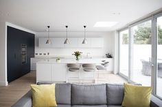 Open Plan Kitchen: Thornhill - Noel Dempsey Design Family Kitchen, New Kitchen, Bespoke Kitchens, Open Plan Kitchen, Open Plan Living, Interior Design Kitchen, Living Area, Extension, Home And Family