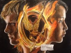 Katniss and Peeta Drawings | Katniss and Peeta the hunger games drawing by MelieseReidMusic
