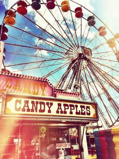 Delicious candy apples!