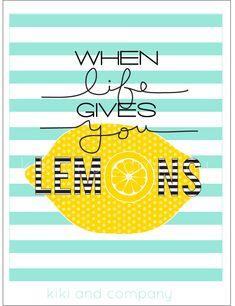 When life gives you lemons at kiki and company