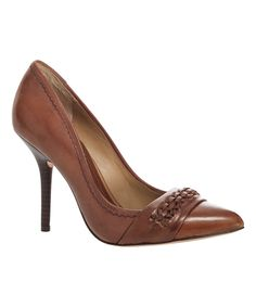 Look at this Leon Max Chestnut Jess Leather Pump on #zulily today!