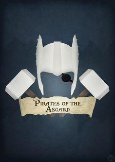 Superhero Movie Mashup Posters  Thor Pirates of the Carribean