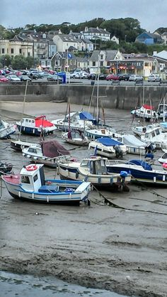 Saundersfoot Harbour at low tide, West Wales, UK Wales Uk, South Wales, Pembrokeshire Coast, Fishing Villages, Air Travel, Lake District, Beach Photos, Holiday Destinations, Travel Style