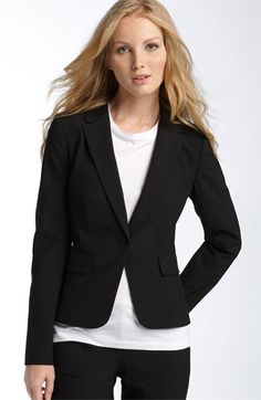 single button, short waisted jacket