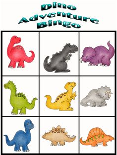 Customize Your Free Printable Dino Adventure Bingo 9