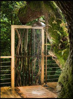 Szabadtéri zuhany, akár egy esőerdőben  / Fotó: Northfoto