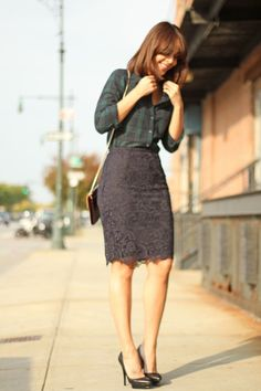 Plaid and lace. Great Combo. Its like farm girl meets the city.