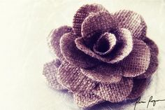 Reduce. Reuse. Recycle. Replenish. Restore.: DIY: How To Make Burlap Roses