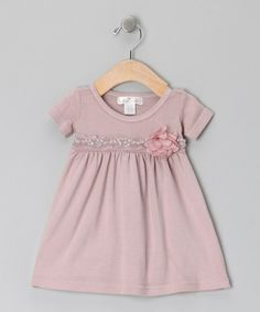 Take a look at this Dusty Plum Tessa Babydoll Dress by Truffles Ruffles on #zulily today!
