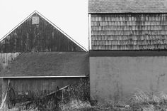Exhibition - Ellsworth Kelly - Works in Exhibition - Matthew Marks Gallery Barns, Long Island 1968 Gelatin silver print 8 x 12 inches; Ellsworth Kelly, Long Island, Lewis Baltz, Edge City, New Topographics, Gelatin Silver Print, Black And White Photography, Art Pictures, Art Boards