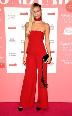 Natasha Poly The Trick: A brightly hued all-in-one feels like a brand new idea thanks to of-the-moment choker details.