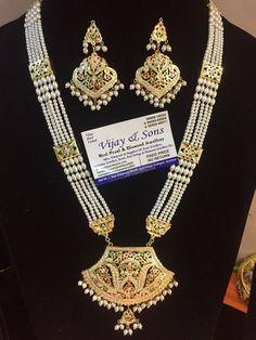 Indian Jewelry Sets, Indian Wedding Jewelry, Antique Jewellery Designs, Gold Jewellery Design, Pearl Necklace Designs, Cuir Vintage, Beauty, Sons, Traditional