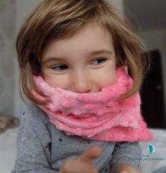 szalik z minky - idealny na zimne mokre dni  w drodze do przedszkola i nie tylko