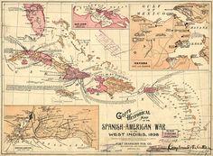 Goffs Hist Map Spanish Am War 1899 72