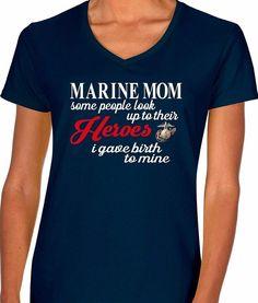 Marine Mom T Shirt   Military Mom   Our T Shirt Shack