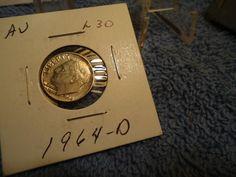 1964-D  //  AU  // 10C Roosevelt Dime  //  M-366