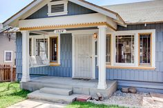 Precious Porch Swing | Bright & Cheery Craftsman | Silverlake Curb Appeal