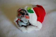 Vintage 1965 Christmas Mouse Annalee Doll