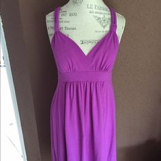 HPPurple braided racer back dress Simple cotton braided racer back with pads in the bra. Maurices Dresses