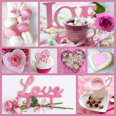 not posted yet; collage by bjl Quote Collage, Color Collage, Collage Photo, Galentines Day Ideas, Miss U My Love, Collages, Heart Shaped Candy, Morning Love Quotes, Day And Mood