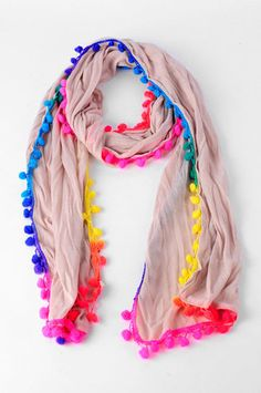 Pom Pom Scarf in Taupe - ahh, so cute!  unfortunately, it's currently sold out :(  hope they will be in stock soon or available elsewhere.