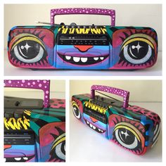 Mac Blackout Doombox BB056 Handpainted Vintage Sony by MacBlackout