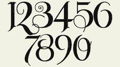 gothic numbers - Căutare Google