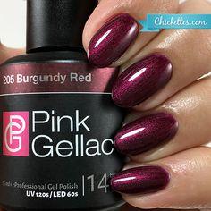 205 Pink Gellac Burgundy Red