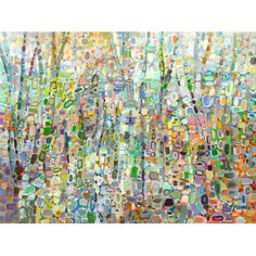 Dabs of bright colors create a beautiful, abstract wilderness scene.Features:Reproduced in the San Diego studios using the be...