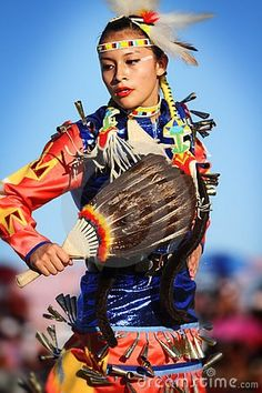 Modern Native American woman dancer