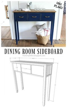 DIY dining room sideboard. Check out the free plans by That's My Letter- awesome how-to project!
