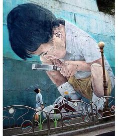 Street art mural (2012) by Kay2 - Busan, South Korea