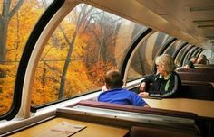 Amtrak Great Dome Train Ride- Scenic Adirondack Train Rides Grab your PSL and take in the fall foliage. Vacation Places, Vacation Trips, Places To Travel, Travel Destinations, Domestic Destinations, Vacation Deals, Vacation Spots, Train Vacations, Train Trip
