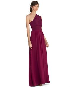 Genius Chiffon Convertible Merlot Bridesmaid Gown on shopstyle.com