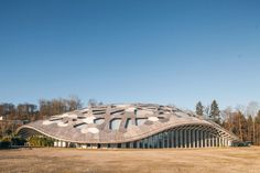 Zoo Zurich's new elephant house is topped with a lace-like woo...
