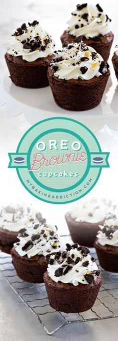 Oreo Brownie Cupcakes are designed to curb any chocolate craving! So easy and so good!