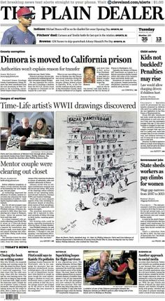 Time-Life artist's WWII drawings discovered. March 25, 2014. #cleveland