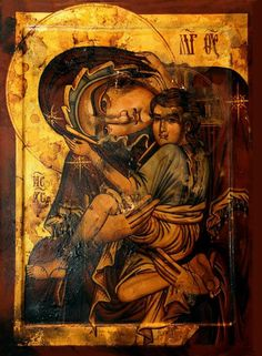 Milk Giver Icon the Eastern Orthodox Church Byzantine Icons, Byzantine Art, Religious Icons, Religious Art, Roman Church, Russian Icons, Painting Workshop, In God We Trust, Orthodox Icons