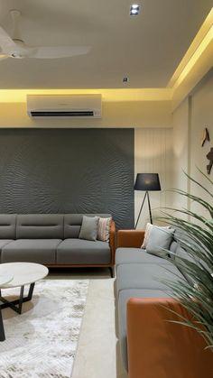Living Room Partition Design, Living Room Sofa Design, Bedroom Furniture Design, Home Room Design, Living Room Designs, Modern Luxury Bedroom, Luxurious Bedrooms, Modern Interiors, Decor Home Living Room