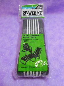 re web for lawn chairs in black and white