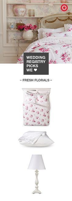 Wedding Gift Ideas At Target : Simply Shabby Chic floral bedding and white accents to your wedding ...
