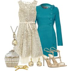 """""""Champagne & Cupcake"""" by fantasy-closet on Polyvore"""
