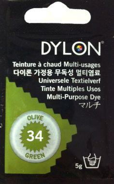 Teinture multi-usages Dylon VERT OLIVE N°34 (=capsule)