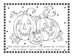 Jesus Shine In Me Coloring Picture For Halloween church