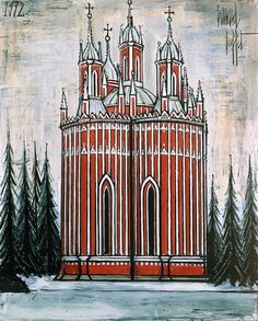 Bernard Buffet - Saint-Petersbourg : L'église de Tchesme - 1992, oil on canvas - 162 x 130 cm