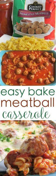 cheesy meatball casserole
