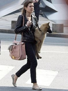 Charlotte Casiraghi - Love the Grimaldi family members love of animals.