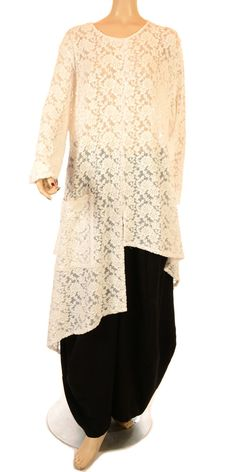 Champagne Beautiful New Arrival Ivory Lace Asymmetric Tunic-Champagne, lagenlook, womens plus size UK clothing, ladies plus size lagenlook fashion clothing, plus size coats, plus size dresses, plus size jackets, plus size trousers, plus size skirts, plus size petticoats, plus size blouses, plus size shirts, plus size tops, plus size tunics, lagenlook plus size fashion clothing