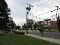 bent telephone pole