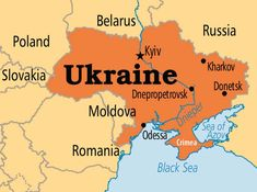 Image result for map of ukraine and crimea